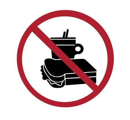 food safety: sign - no food or drink