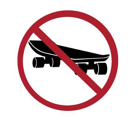 sign - no skateboarding