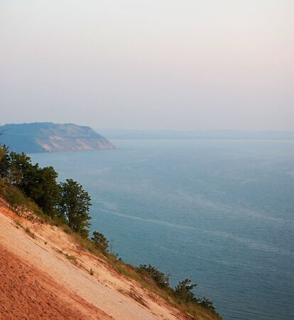 Sleeping bear dunes and Lake Michigan - sunset Stock fotó - 6031945
