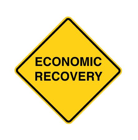 road to recovery: road sign - economic recovery