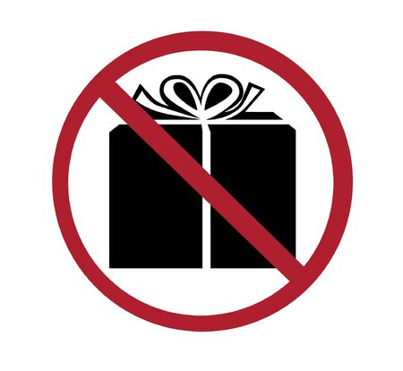 sign - no gift wrapping