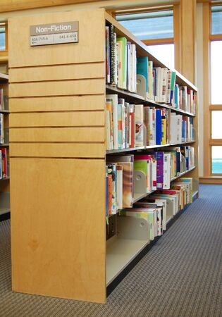 dewey: library shelf showing Dewey decimal system Stock Photo
