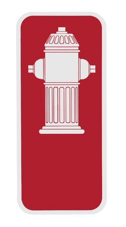 fire plug: sign - fire hydrant, white on red background