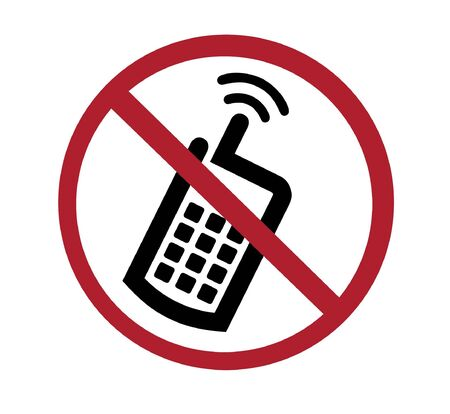 ban: sign - no cell phones Stock Photo