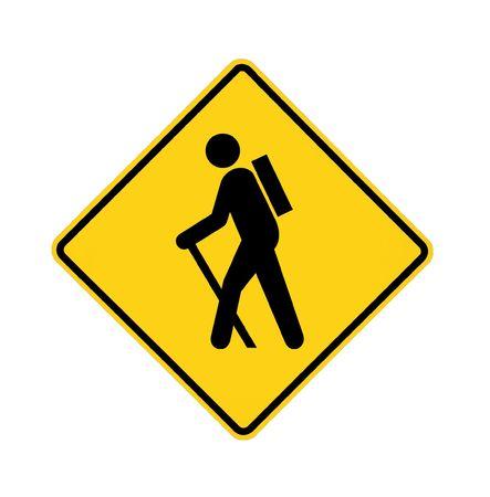 road sign - no hikers photo