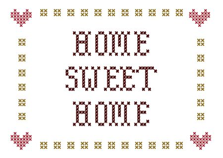 sweet heart: home sweet home embroidery Stock Photo