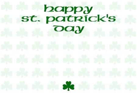 cloverleaf: Happy St. Patricks Day with cloverleaf background and one leaf solid green
