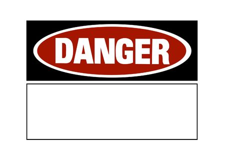 Danger sign - red and black on white