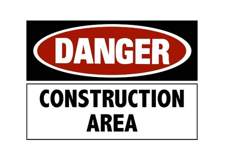 Danger sign - hard hats must be worn