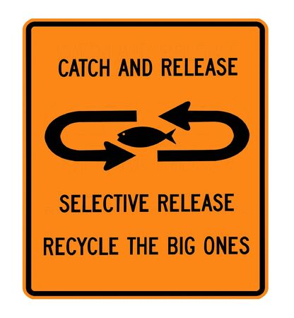 Catch and release fishing sign Stock fotó - 7141200