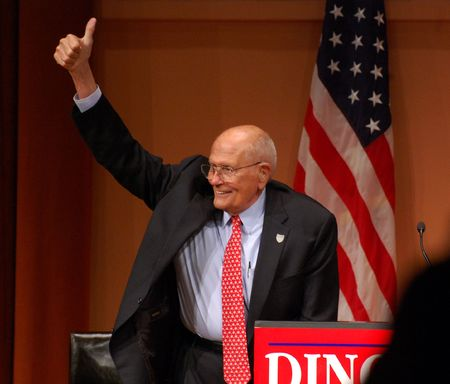 congressman: ANN ARBOR, MI - OCTOBER 24: Congressman John Dingell of Michigan at rally