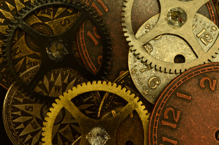agglomeration: agglomeration of various watch parts