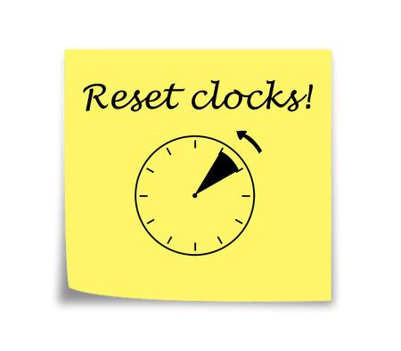 daylight: Sticky note reminder to set clocks back, black on yellow