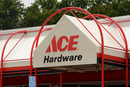 hardware: ANN ARBOR, MI - AUGUST 24: Ace Hardware, whose east Ann Arbor store is shown on August 24, 2014, was recently ranked HIghest in Customer Satisfaction by J.D. Power & Associates.