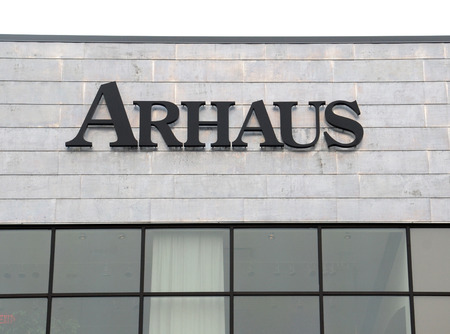 furniture store: ANN ARBOR, MI - AUGUST 24: Arhaus, whose Ann Arbor store logo is shown on August 24, 2014, has 53 furniture stores in the eastern United States.  Editorial