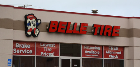 belle: ANN ARBOR, MI - AUGUST 24: Belle Tire, whose east Ann Arbor store is shown on August 24, 2014, has 85 locations in Michigan and Ohio, due to aggressive growth focused on acquisitions.