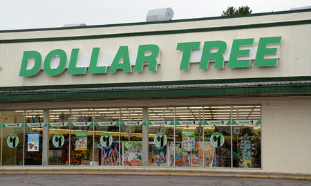 bidding: ANN ARBOR, MI - AUGUST 24: Dollar Tree, whole Ann Arbor store is shown on August 24, 2014, is in a bidding war for Family Dollar, a rival.   Editorial