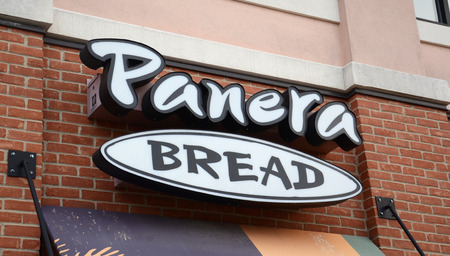 whose: ANN ARBOR, MI - AUGUST 24: Panera Bread, whose logo at the east Ann Arbor store is shown on August 24, 2014, has seen their shares drop 14% so far in 2014.