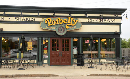 potbelly: ANN ARBOR, MI - AUGUST 24: Potbelly, whose east Ann Arbor store is shown on August 24, 2014, has 280 shops in the United States.