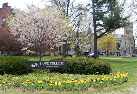 HOLLAND, MI - MAY 3: Hope College, whose campus is shown here, graduated its largest graduating class of 766 on May 3, 2015.