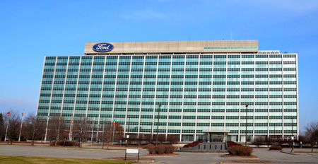 december 21: DEARBORN, MI - DECEMBER 21:  Ford, whose headquarters in Dearborn is shown on December 21, 2014, had revenues of over US140 billion in 2014.