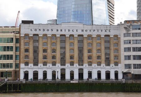 food hygiene: LONDON - AUGUST 6: London Bridge Hospital, shown on August 6, 2015, was recently awarded a five star rating for food hygiene.
