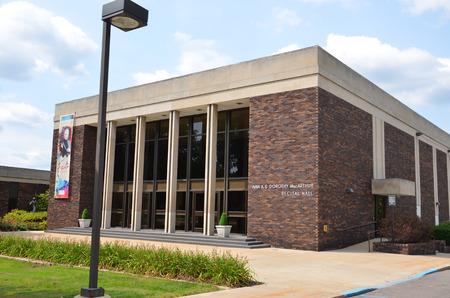 recital: FLINT, MI - AUGUST 22: The McArthur Recital Hall in Flint, MI, shown here on August 22, 2015, houses the Flint Institute of Music.