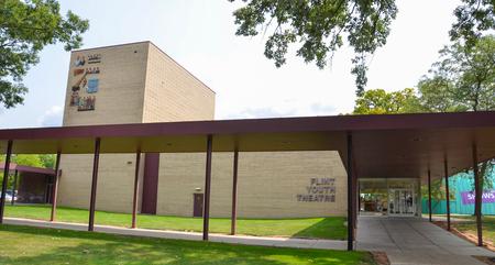 flint: FLINT, MI - AUGUST 22: The Flint Youth Theater in Flint, MI, shown here on August 22, 2015, hosts drama classes for school-aged youth.