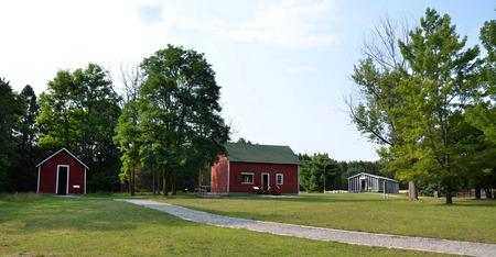 ROSCOMMON, MI - 22 augustus: The Civilian Conservation Corps Museum in Roscommon, MI, hier op 22 augustus 2015 getoond, richt zich op hun werk het planten van bomen in de staat.