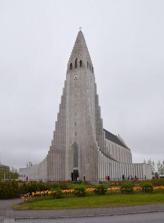 erikson: REYKJAVIK, ICELAND - JUN 17:  Hallgrimskirja church, shown on June 17, 2015, is one of Reykjavik's most popular landmarks.