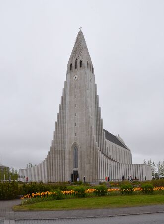 REYKJAVIK, ICELAND - JUN 17:  Hallgrimskirja church, shown on June 17, 2015, is one of Reykjavik's most popular landmarks.