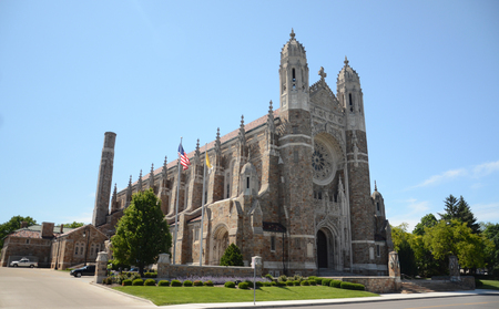lady s: TOLEDO, OH - JUNE 2:  Toledo's Our Lady, Queen of the Most Holy Rosary Cathedral, shown on June 2, 2015, serves the diocese of Toledo Editorial