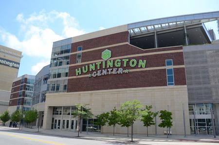 walleye: TOLEDO, OH - JUNE 2:  Toledo's Huntington Center, shown on June 2, 2015, is the home of the Toledo Walleye ECHL ice hockey team.