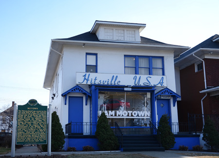 DETROIT, MI - FEBRUARY 6:  Detroits Motown museum, shown on February 6, 2016, is housed in the famous Hitsville, USA building.