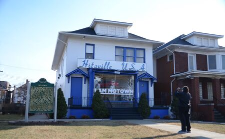 DETROIT, MI - FEBRUARY 6:  A visitor photographs Detroits Motown museum on February 6, 2016.