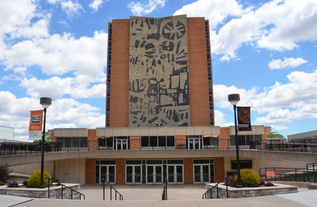 BOWLING GREEN, OH - JUNE 25: The Jerome University Library at Bowling Green State University in Bowling Green, Ohio, is shown on June 25, 2017. It celebrated its 50th anniversary in May.