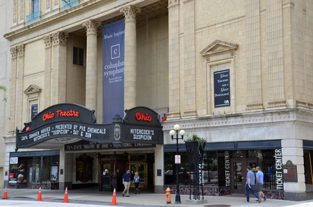 COLUMBUS, OH - JUNE 28: The Ohio Theatre in Columbus, Ohio is shown on June 28, 2017. The 1928 movie theater is a National Historic Landmark.