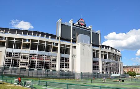 COLUMBUS, OH - JUNE 25: Ohio Stadium in Columbus, Ohio is shown on June 25, 2017. It is the home of the Ohio State University Buckeyes.