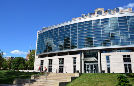 COLUMBUS, OH - JUNE 25: The William Oxley Thompson Memorial Library in Columbus, Ohio is shown on June 25, 2017. It was renovated in 2009.