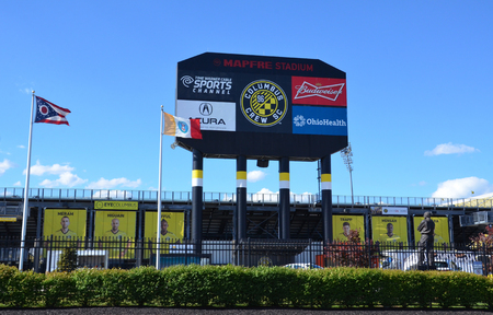 COLUMBUS, OH - JUNE 25: MAPFRE stadium in Columbus, Ohio is shown on June 25, 2017. It is the home stadium of theColumbus Crew SCofMajor League Soccer. Sajtókép