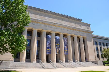 ANN ARBOR, MI  USA - JULY 2 2017: The University of Michigan, whose Angell Hall is shown here, celebrated its 150th anniversary in 2017. Sajtókép