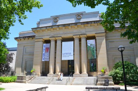ANN ARBOR, MI  USA - JULY 2 2017: The University of Michigan, whose Museum of Art is shown here, celebrated its 150th anniversary in 2017.