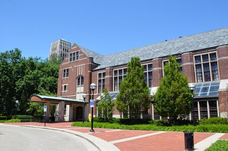 ANN ARBOR, MI  USA - JULY 2 2017: The University of Michigan, whose Michigan League building is shown here, celebrated its 150th anniversary in 2017. Sajtókép