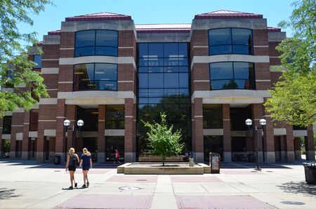 ANN ARBOR, MI  USA - JULY 2 2017: The University of Michigan, whose Shapiro Undergraduate Library is shown here, celebrated its 150th anniversary in 2017.