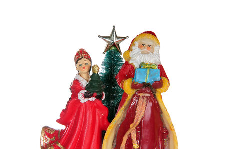 evicted: Santa Claus next to the Christmas tree and the Snow Maiden