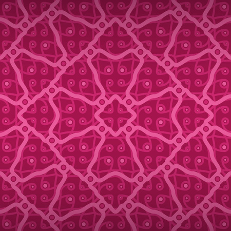 tessellated: Bright pink geometrical seamless pattern in organic style. Shining, contrast design for game, curtain, surface or other purpose.