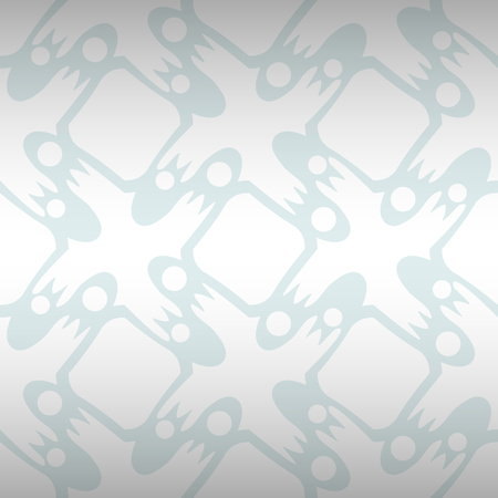 White, light gray decorative seamless pattern in inwrought style.