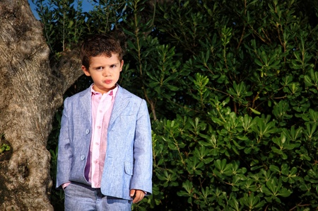 Kid fashion style portrait outdoor photo