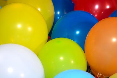 yellow,blue,orange,white,red balloons close-up Stock Photo - 11144865