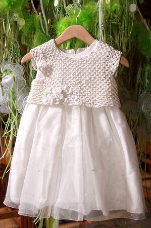 babycare: white baby dress for christening